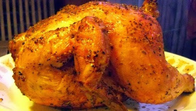 """Beer Can Chicken with """"French Fried"""" Asparagus on the BBQ!"""
