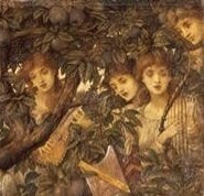 Detail of painting by John Melhuish Strudwick