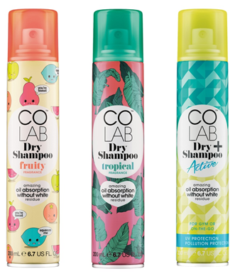 Revive your tresses with COLAB's fun & trendy dry shampoos.