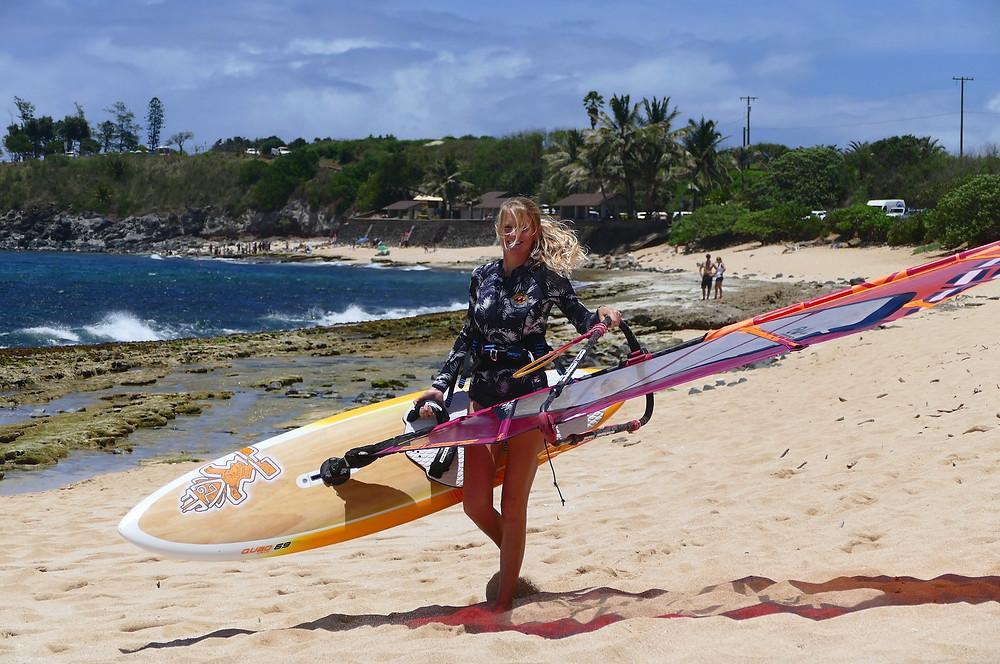 Heading out at Hookipa Beach  - Maui