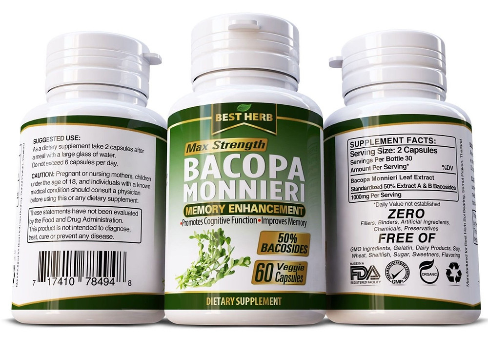 Bocopa Monnieri Memory Enhancement Supplement