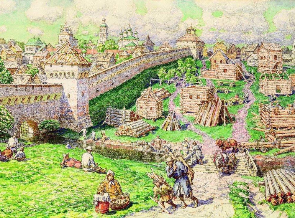 Лубяной торг на Трубе в XVII веке (1926 год)