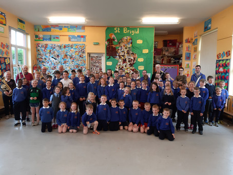 Castlebar Brass Band visit our school