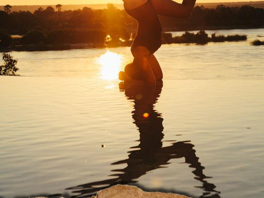 Yoga on the Zambezi River in Zambia