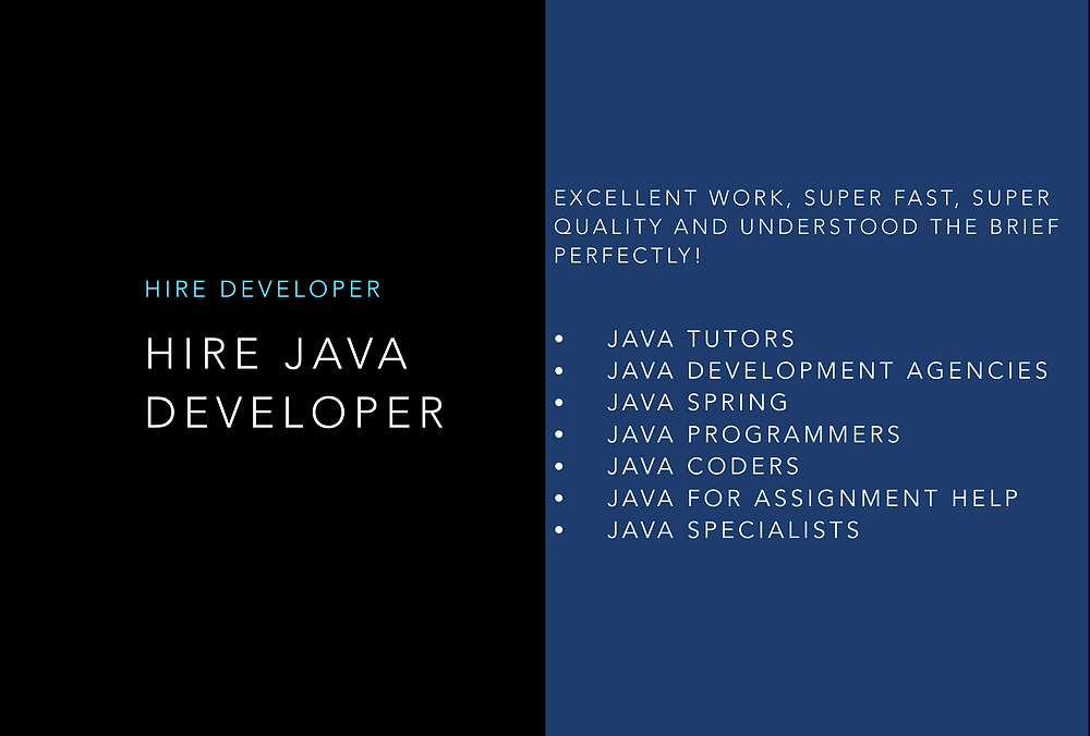 Hire a Java Developer:  The right Java professional can help you take your idea to any platform.