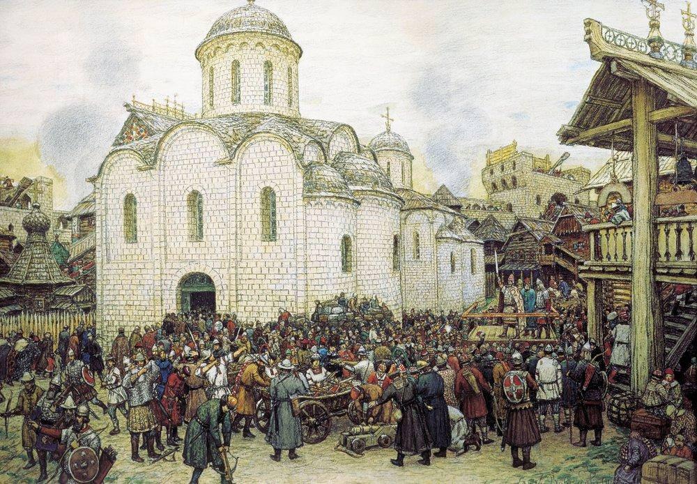 Оборона Москвы от хана Тохтамыша. XIV век (1918 год)