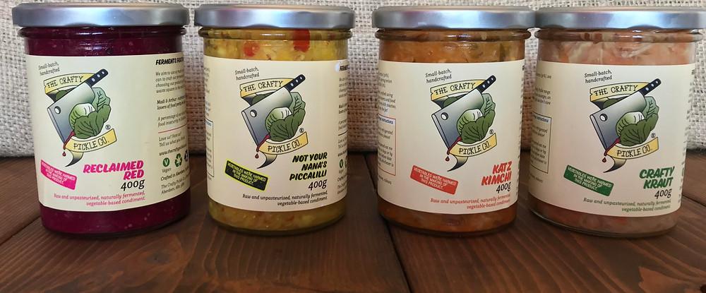 Reclaimed red sauerkraut, Not your nana's piccalilli sauerkraut, crafty kraut, katz kimchi