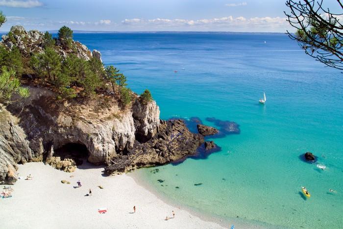 Crique de l'ile vierge, mouiller pour les bateaux et voiliers, Bretagne