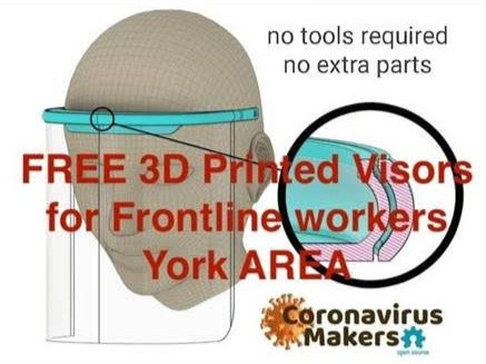 DRIVE FOR FREE 3D-PRINTED VISORS FOR FRONTLINE STAFF