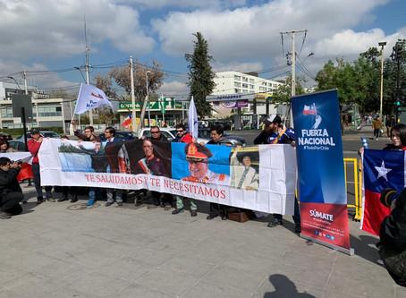 Fuerza Nacional realiza manifestación en homenaje a la gesta libertadora del 11 de septiembre