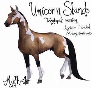 ~Mythril~ Teeglepet: Unicorn Stands