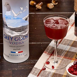 Grey Goose vodka and martini