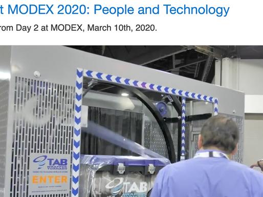 [News] MODEX 2020, Day 2 : Sustainability, Human + Machine