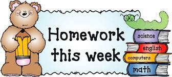 Homework - Friday 22nd May