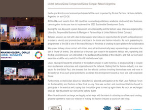 animaná and Hecho por Nosotros participated at the UN Global Compact meeting in Buenos Aires