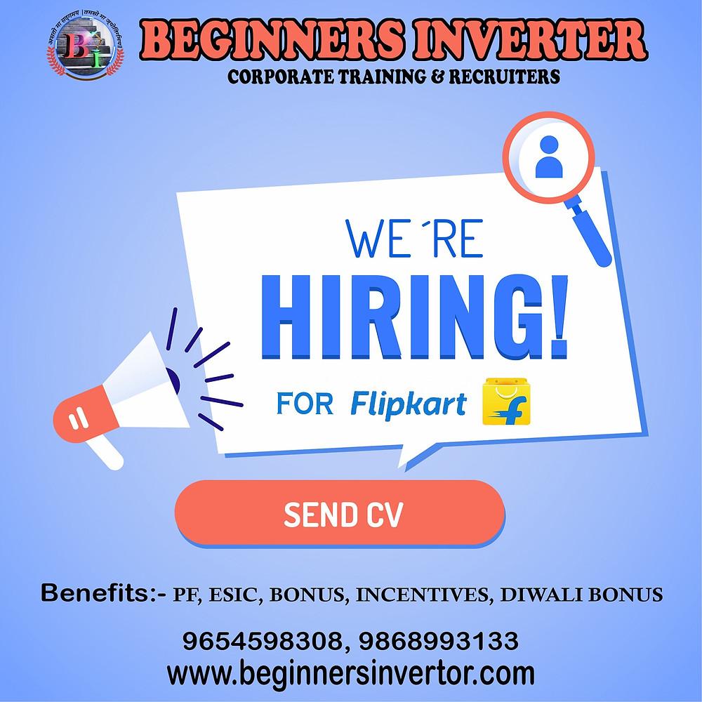 Beginners Inverter hiring for Flipkart