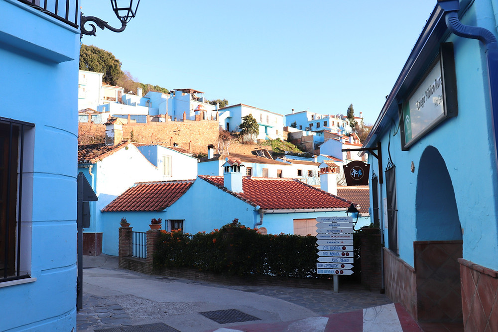 Blue village Juzcar smurf village in southern spain