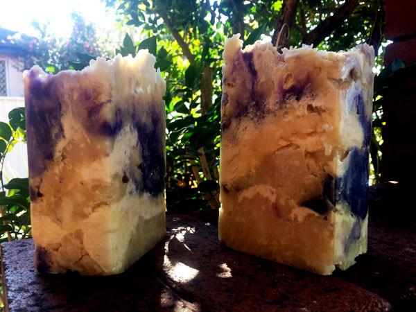 Lumpy looking soap blocks
