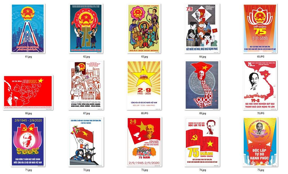 Bộ Tranh Cổ Động 75 Năm Cách Mạng Tháng Tám và Quốc Khánh 2-9 Chất Lượng Cao Part05