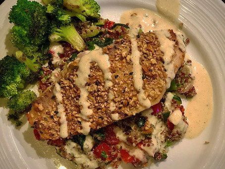 Chickpea Crusted Spiced Tilapia