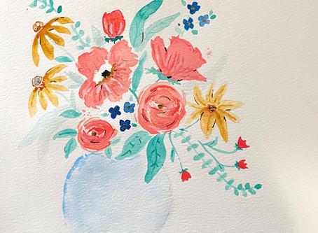 watercolor blooms