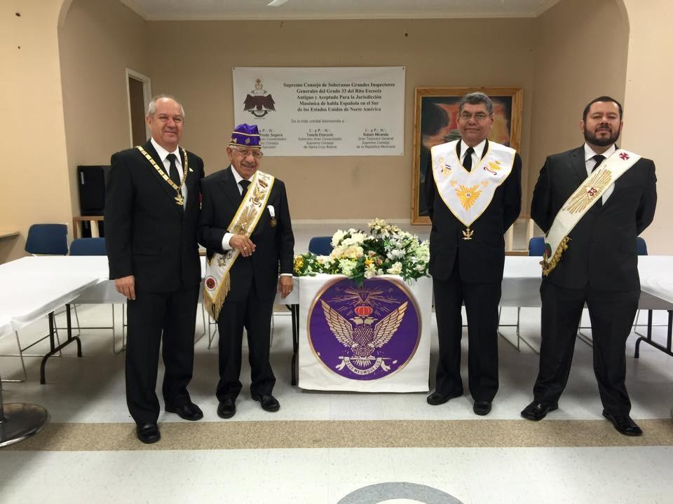 Maçonaria - Supremo Conselho nos USA   Membros da AIME - Aliança Internacional Maçonaria Escocesa