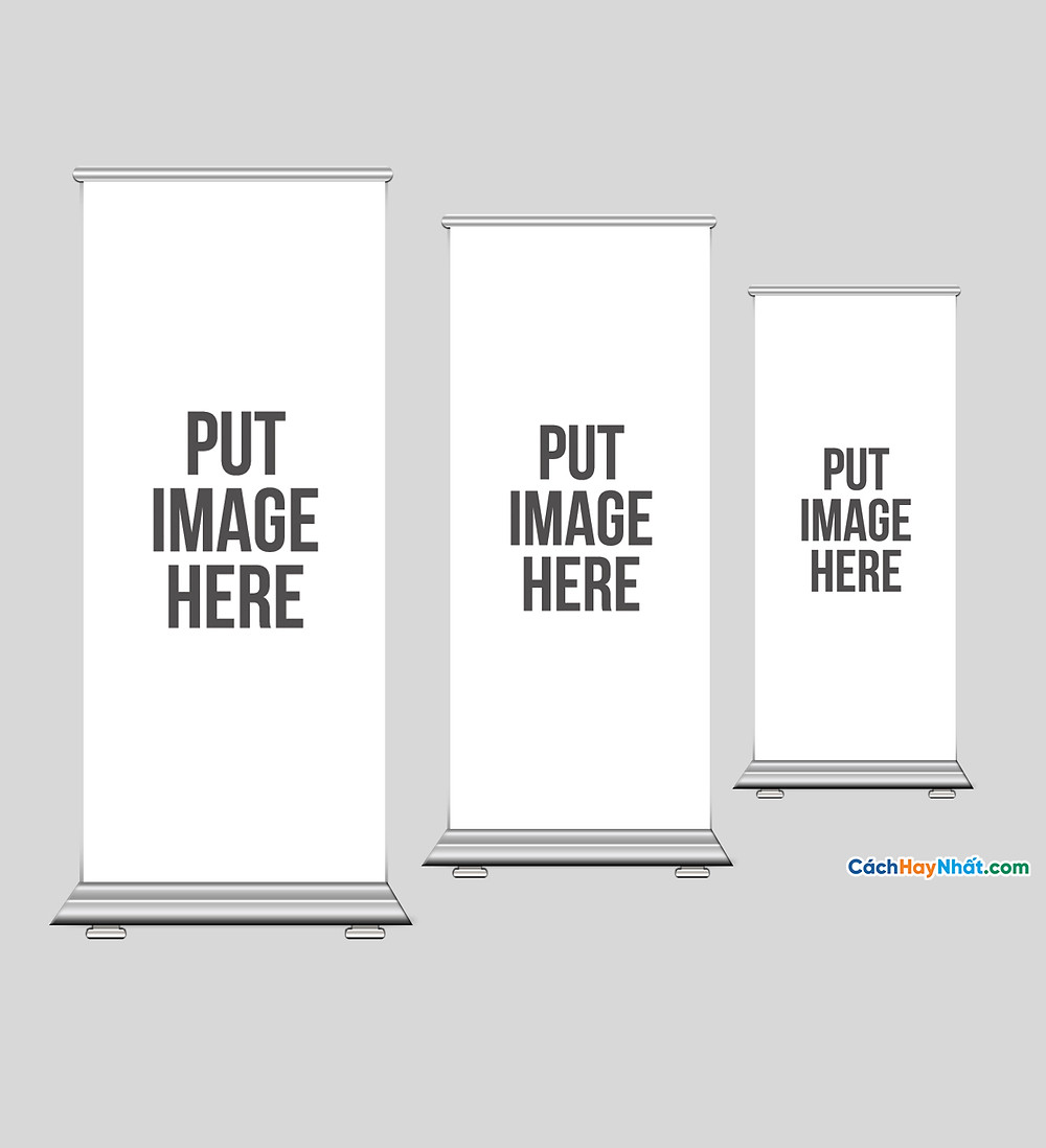 File Mockup, Flyer, Name Card, Standee Templates Photoshop