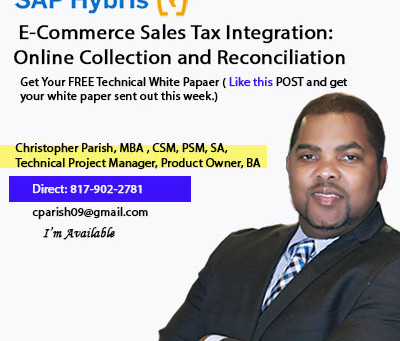 Hybris E-Commerce Sales Tax Integration, Collection and Reconciliation
