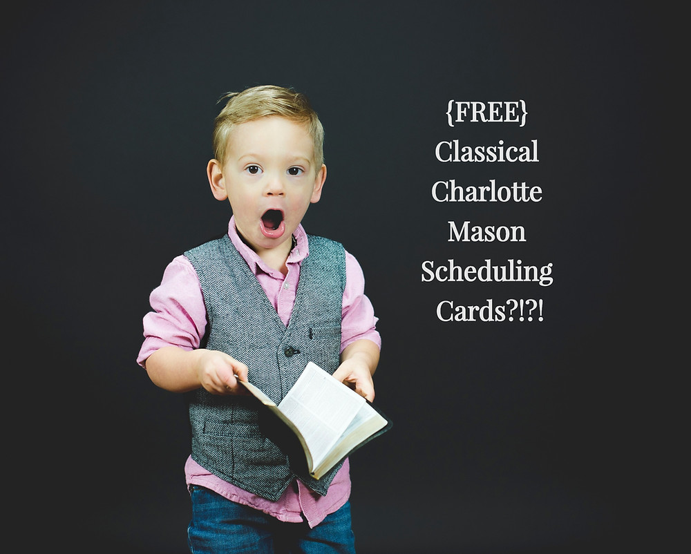 {FREE} Charlotte Mason Scheduling Cards