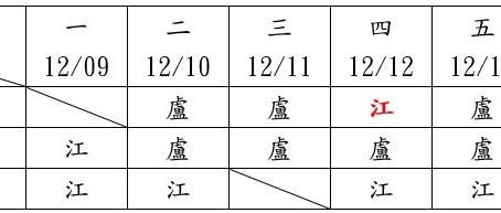 門診異動:婦科12/12(四)早診異動