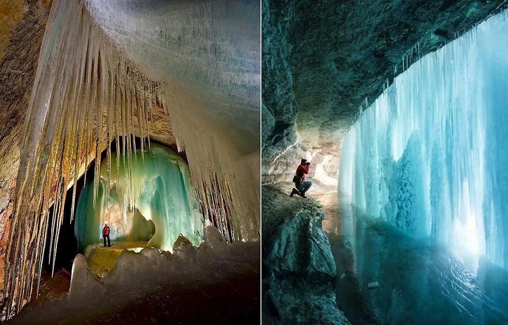 grotte de glace Eisriesenwelt en Autriche