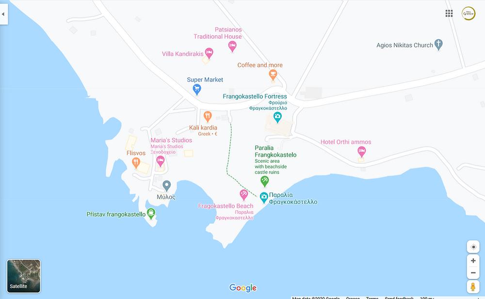 Frangokastello Map
