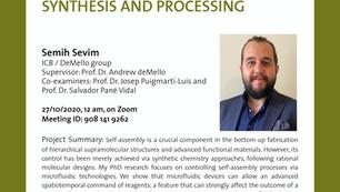 PhD public presentation by Semih Sevim