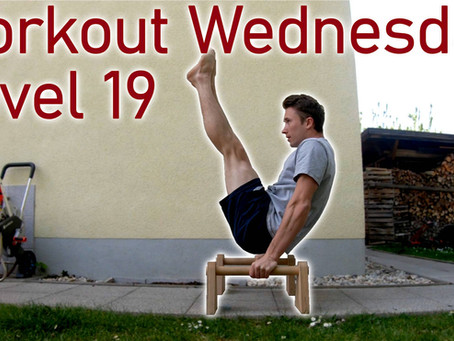 Level 19 - Workout Wednessday - V-Sit/Back Lever/Liegestütze 360 etc.