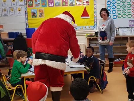 Santa's visit to Senior Infants