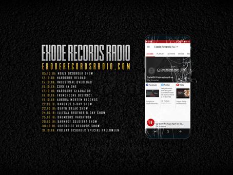 October on Exode Records Radio [Planning]