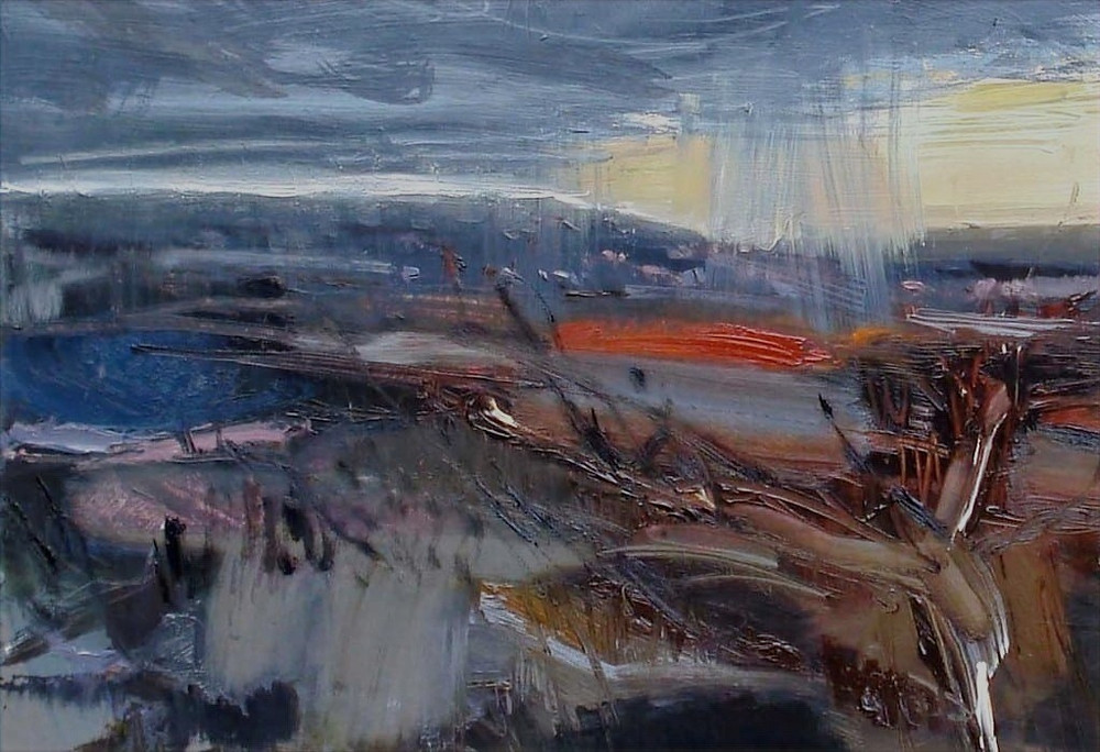 Perfect Storm Oil on board by Amanda Nicol