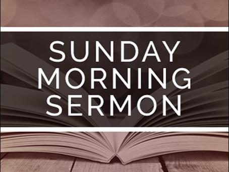Sermon November 11, 2018