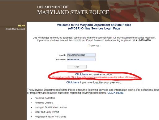 Applying for your Maryland HQL