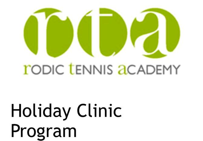 Holiday Tennis Clinics - Juniors