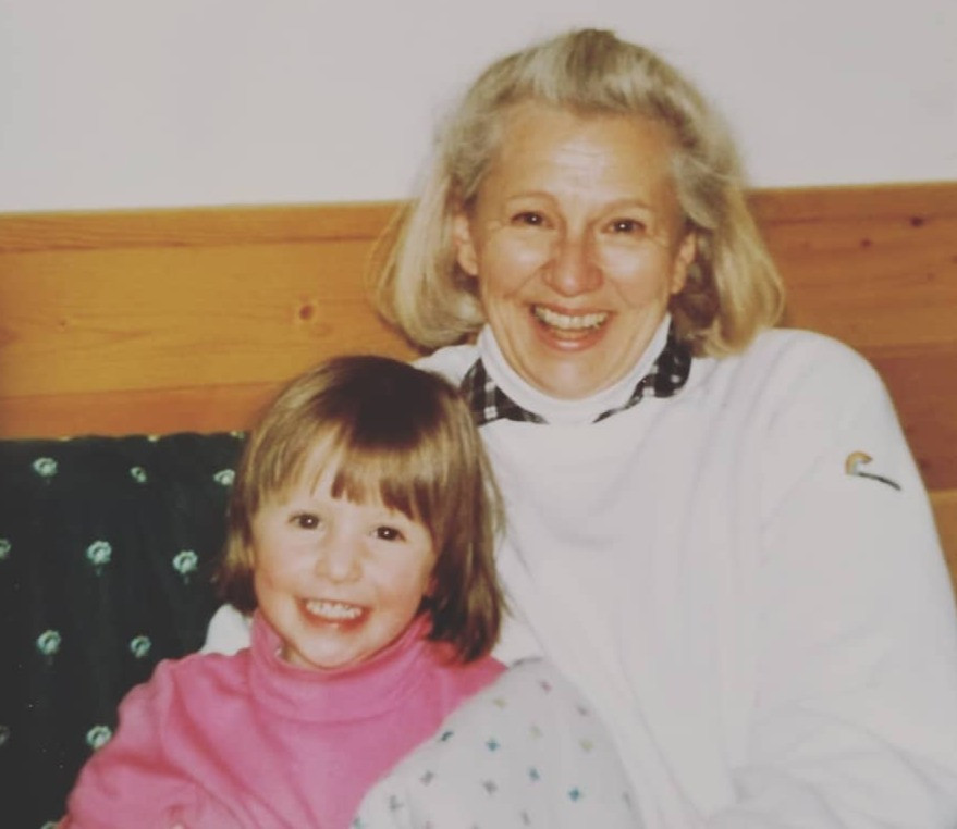 Katrina with her grandma, Finding Fertile Ground Podcast