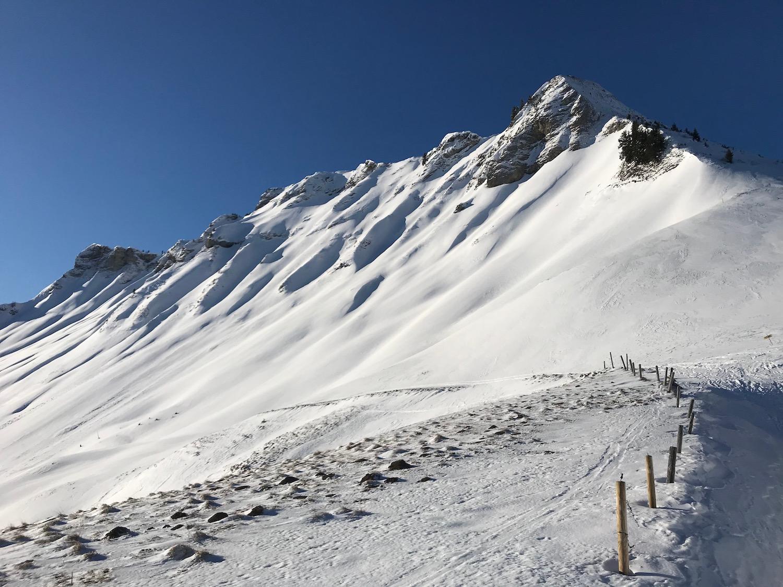 Bergkette mit Zaun, Skitour Juifen Achenkirch
