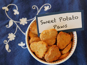 sweet potato paws dog treats