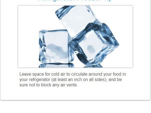 Refrigerator/Freezer Tip