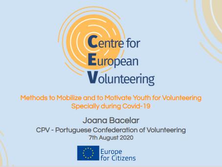 Webinar sobre Métodos de Mobilização e Motivação de Voluntários | 7 de Agosto - 13h00