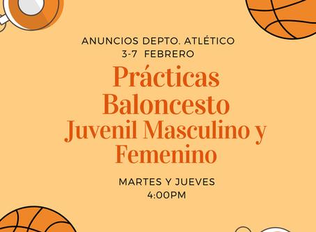 Prácticas Baloncesto Equipo Juvenil