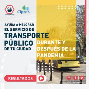 Resultados Encuesta Coronavirus y Transporte Público