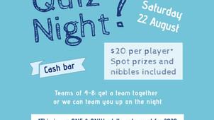 Island Bay School Parent's Quiz Night - 22 August