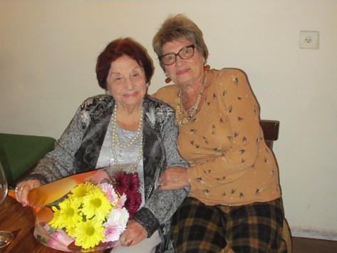 90-летие Жозефины Фишман-Дорман - поздравляем!