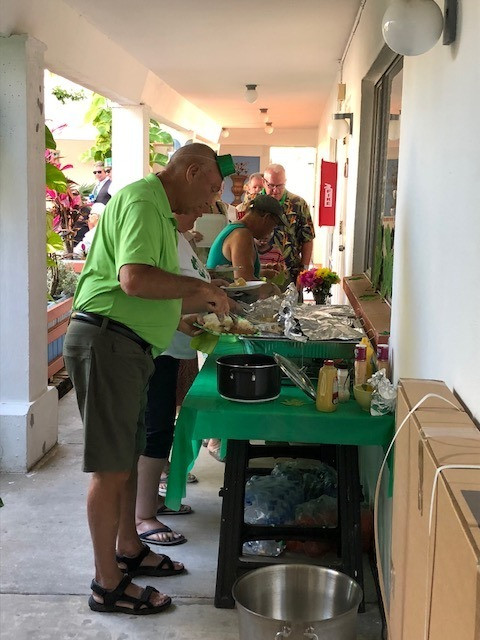 photo of guests visiting corned beef and cabbage buffet
